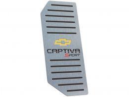 Descanso de Pé Chevrolet Captiva Sport Automático em Aço Inox - Listrado Preto