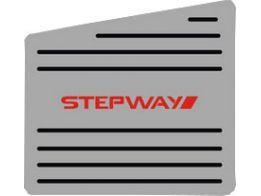 Descanso de Pé Renault Sandero Stepway em Aço Inox - Listrado Preto