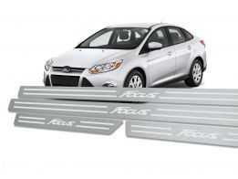 Soleira Standard Ford Focus 2014 em Diante Aço Inox Standard