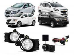 Farol Milha Neblina para Chevrolet Cobalt / Spin / Onix 2012/.. Prisma 2013/..+ Botão Modelo Original com Modulo