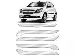 Protetor de Parachoque para Chevrolet Agile 2010/2015 Transparente com Escrita em Cromado